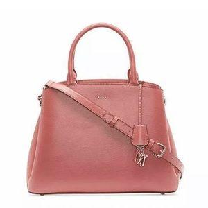 NWT!🎁 DKNY Paige Deep Blush Leather Satchel